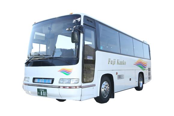 中型観光バス(27席のみ補助席はありません)